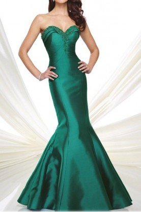 Mon Cheri Black Strapless Mermaid Gown Evening Dress 216978