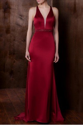 Colors Dress 1778 Beaded Cutout Back Fitted Gown Prom Dress