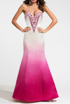 Ashley Lauren  SWEETHEART PINK OMBRE EVENING DRESS Mermaid