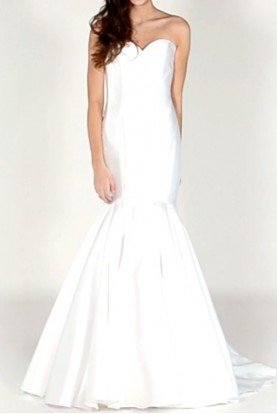 Colors Dress White strapless mikado bridal gown prom dress