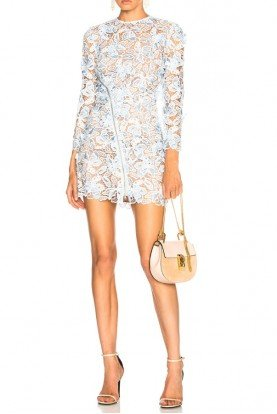 Light Blue 3D Lily Mini Dress
