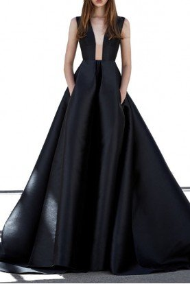 c9ebbd52ad Alex Perry · Axel Black Italian Silk Sleeveless Ball Gown