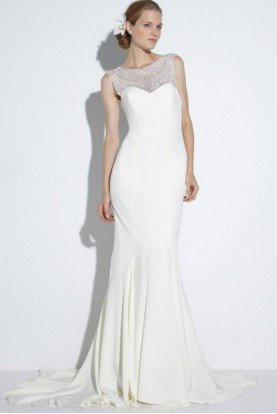 White Beaded Lily Bridal Gown