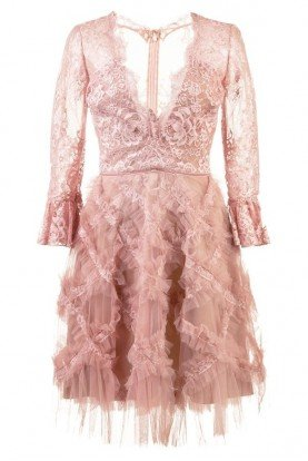 Blush Pastel Tulle Embellished Dress