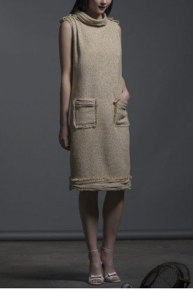 Ivory Sleeveless Ragusa Shift Dress