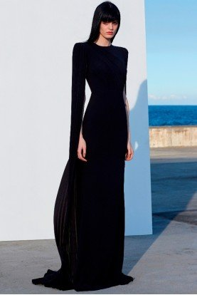Alex Perry  Black Alex Long Sleeve Gown