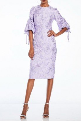 Half Sleeve Lilac Cocktail Dress