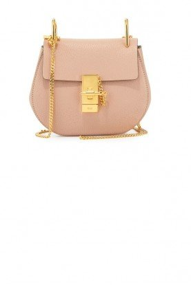 Drew Lambskin Shoulder Bag in Pink
