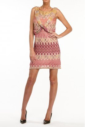 Short Crochet Printed Patterned Dress
