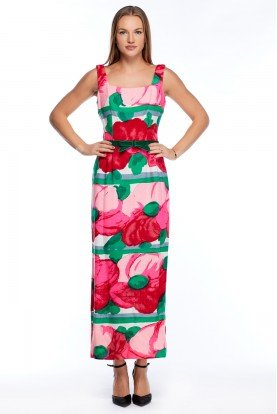 Lord and Taylor Vintage Floral Maxi  Dress