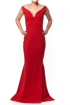 Chiara Boni  Vintage Poison Red Mermaid Gown