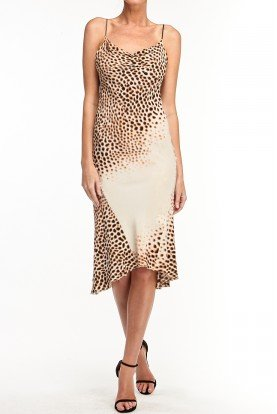 Animal Print High Low Rope short dress