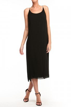 Akris Black Sleeveless Midi Dress