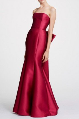 Fuchsia Strapless Mikado Evening Gown