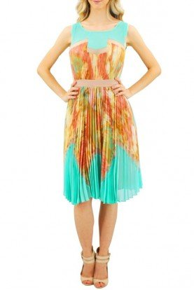 Ksenia Pleated Cocktail Dress