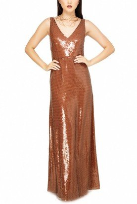 Emilio Pucci Shiny in Brown Crepe Evening Gown