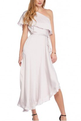 Sueded One Shoulder Dress