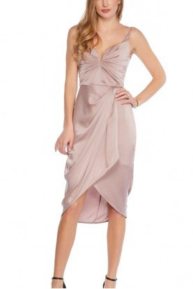 Lilac Washed Silk Cocktail Dress