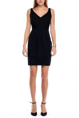 Black Fit and Flare Sleeveless Dress