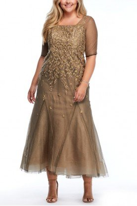 Liancarlo Gold on Gold Embroidered Gown