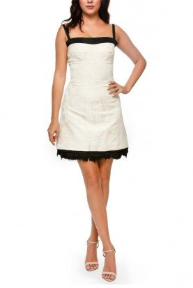 Helmut Lang Ivory Floral Embroidered Mini Dress