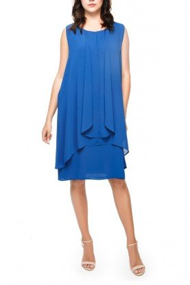 Royal Blue Drape Cocktail dress