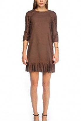 Marni Brown Round Collar Pull Over Dress