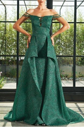 John Paul Ataker Green Honeycombed Jacquard Dress  JPA 2088