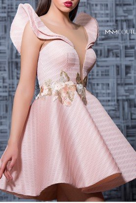 Pink Sleeveless Mini Party Dress MNM K3576