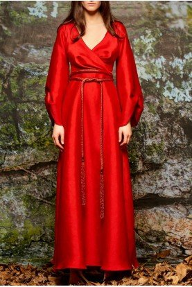 John Paul Ataker  Gray Draped Robe Style Jacquard Dress JPA 1720
