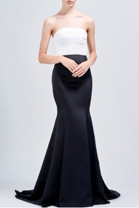 Two Tone Strapless Mermaid Dress JPA 1487