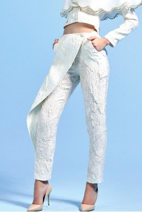 Structured Organdy with Metallic Detail Pants
