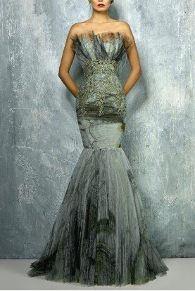 Beside Couture by Gemy Strapless Trumpet Fitted Evening Gown