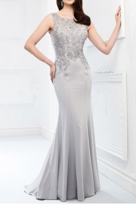 218902 LATTE GOLD METALLIC FITTED GOWN