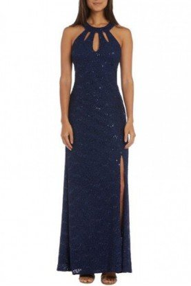 Morgan and Company Twilight Sparkle Open Back Gown 12404