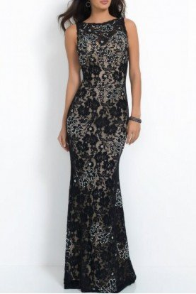 High Neck Sheath Gown 41