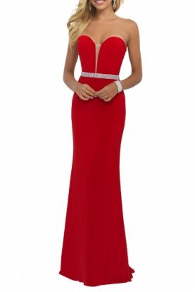 Blush Prom Valentine Sweetheart Sparkle Trim Gown  11010-R