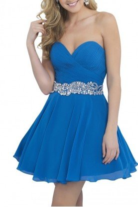 Blush Prom Ocean Blue Sweetheart Cocktail Dress 10059