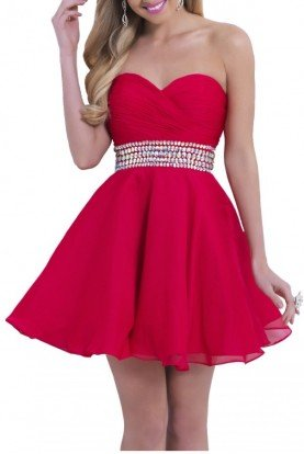 Cherry Flowy Cocktail Dress 9861