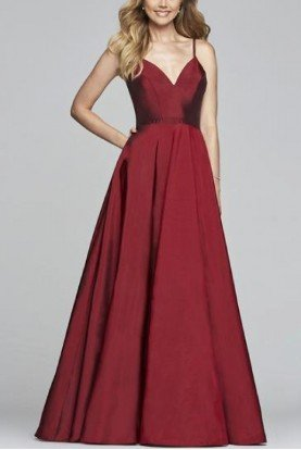 Red V-Neck Ballgown S10249
