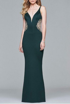 Faviana Green Trumpet Gown S7916