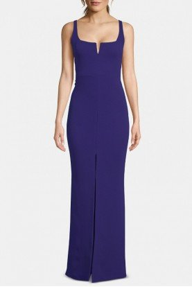 Royal Front Slit Gown A22163