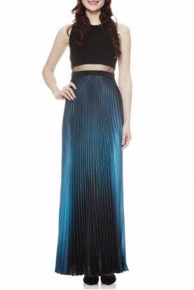 Sleeveless Ombre Sheath Gown A16984