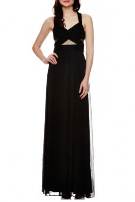 Black Cross Back Gown A14947M