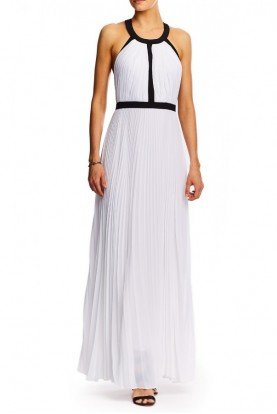 White Gladiator Halter Dress CFL0092