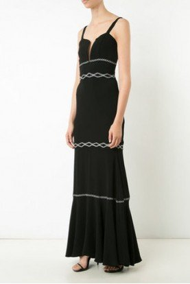 Plunge Trim Gown Co10067