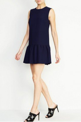 Navy Ruffle Cocktail Dress BM10170