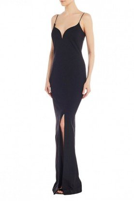 Black Sweetheart Slit Gown CE10063