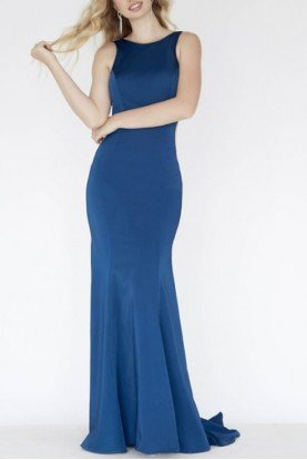Blue Side Illusion Gown E80031