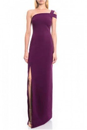 Plum One Shoulder with Slit Gown YD269001LY